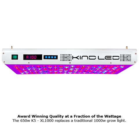 Kind 1000 Watt LED K5 XL1000 Grow Light for Indoor Plants