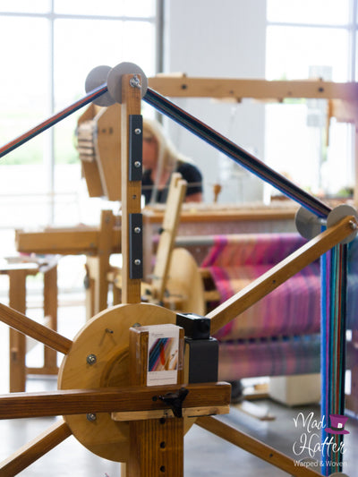 Warping with Queen Hatter at Mad Hatter Warped & Woven Studio