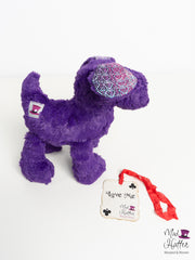 Falling Minky Puppy, Hand Painted Silk Merino Weft with Sparkles