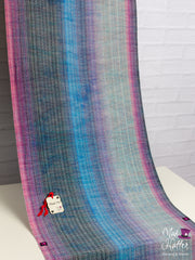 Mad Hatter Warped & Woven Falling Babywrap, 3.6 M Handpainted Fine Silk Merino Weft with Sparkles