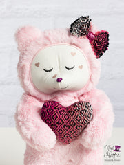 Valentine's Day Minky Bear with Heart