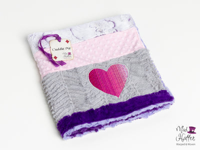 Mad Hatter Warped & Woven Fantastical Horizon Minky Blanket -Baby Size