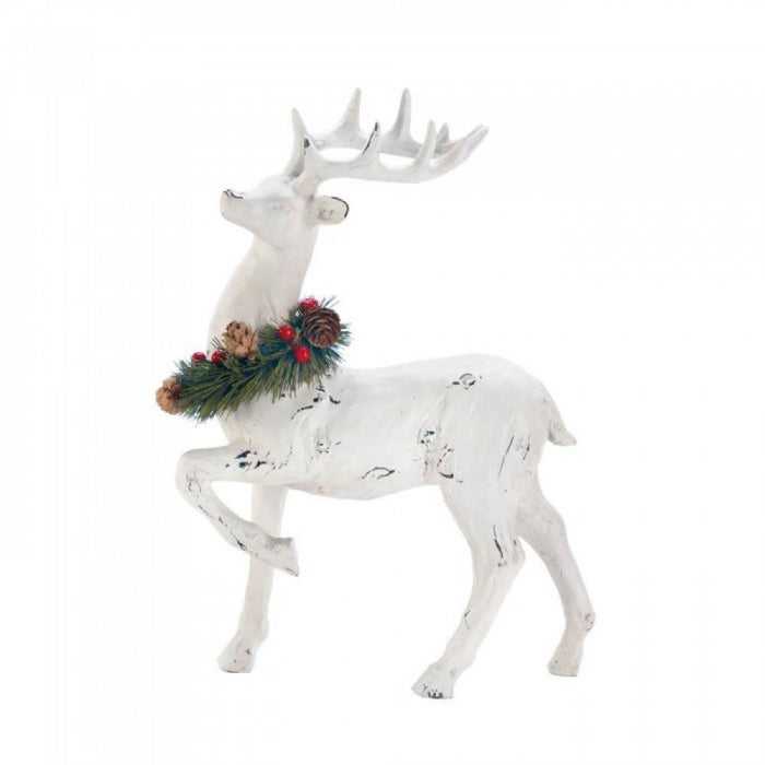 Prancer With Wreath Figurine