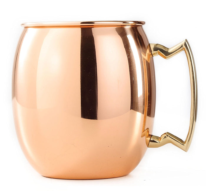 Solid Copper Moscow Mule Mug, Set of 4 16 oz