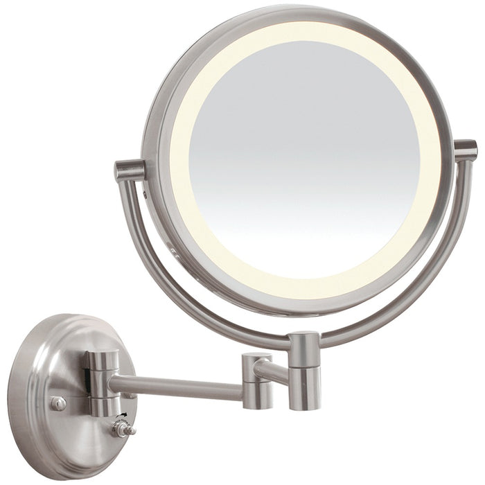 Conair Reflections Led Brushed-nickel Wall-mount Mirror