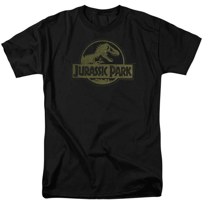 Jurassic Park - Distressed Logo Short Sleeve Adult 18/1