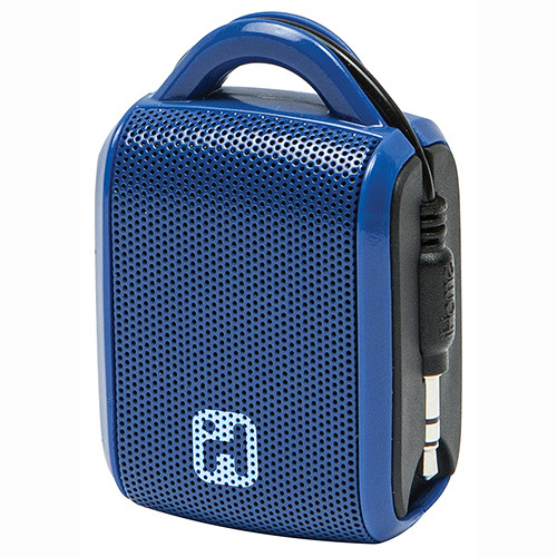 iHome-Rechargeable Line-In Mini Speaker Blue