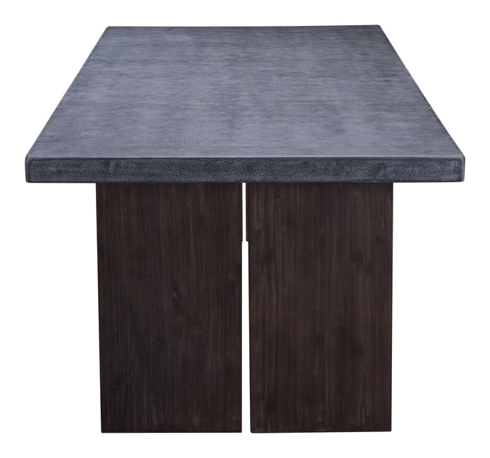 Windsor Dining Table Cement & Natural