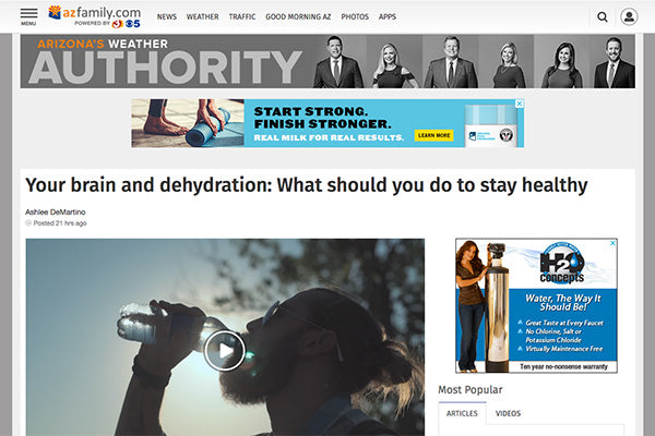 Your brain and dehydration: What should you do to stay healthy