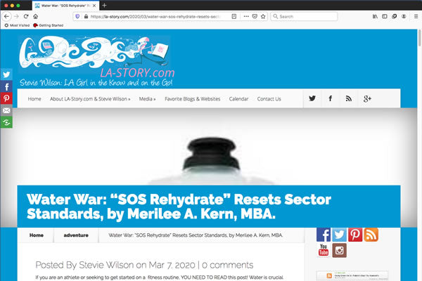 "Water War: ""SOS Rehydrate"" Resets Sector Standards, by Merilee A. Kern, MBA."