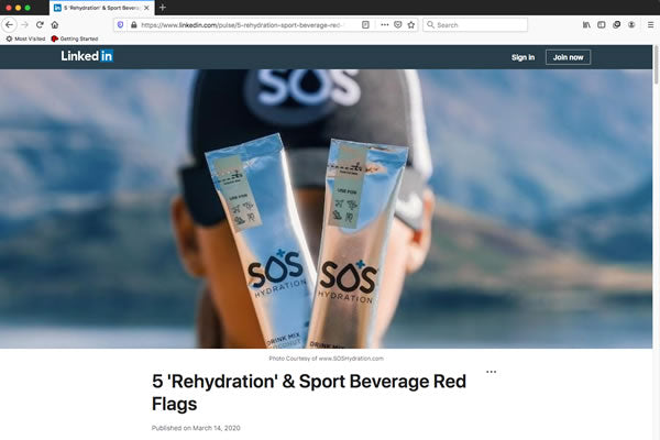 5 'Rehydration'​ & Sport Beverage Red Flags