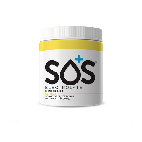 SOS Active Sports Electrolyte Powder Tub for Hydration 50 Servings