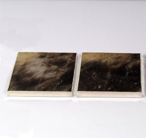 Smoky Rock Crystal Coasters Set of 3