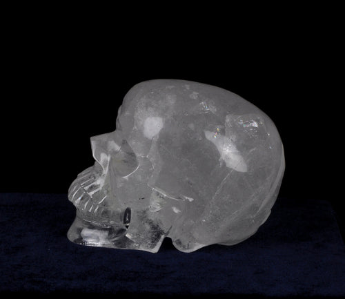 Carved Rock Crystal Skull Life-Size