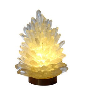 Large Rock Crystal Cluster Lamp Liberty