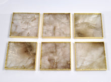 Smoky Rock Crystal Coasters Set of 6