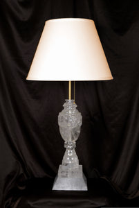 Rock Crystal Lamp Carved Vase