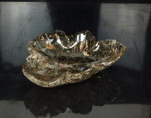 Carved Smoky Rock Crystal Floating Leaf Bowl Centrepiece