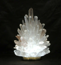 Rock Crystal Cluster Lamp Liberty 10""