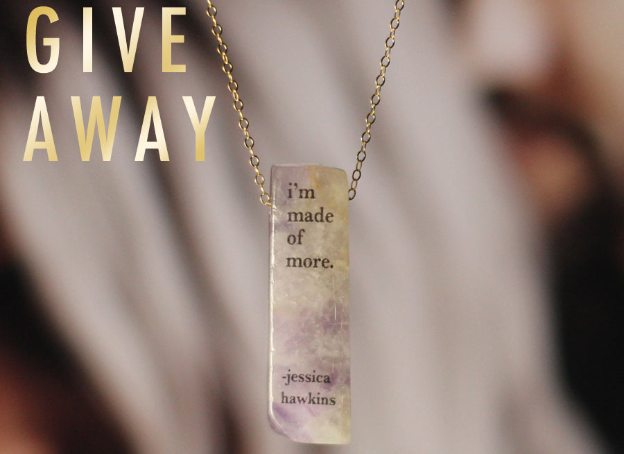 Jessica Hawkins Quote Necklace Giveaway