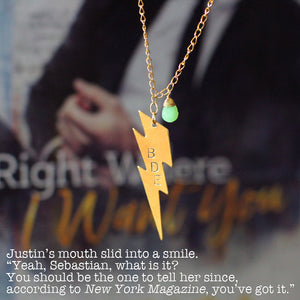 Jessica Hawkins Hand Stamped BDE Quote Necklace
