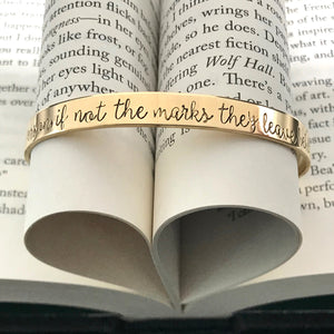 The Invisible Life of Addie LaRue Quote Hand Stamped Cuff Bracelet