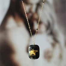 Jessica Hawkins Custom Bird and Bear Initials Necklace