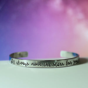 Jessica Hawkins Custom Quote or Title Cuff Bracelet