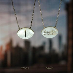 Jessica Hawkins Right Where I Want You Thin Line Beautiful Ad Infinitum Necklace
