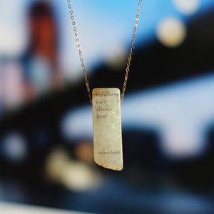 quartz quote necklace Staci Hart - Fiction Jewelry