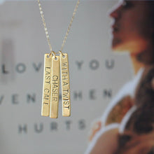 Staci Hart Hand Stamped Novel Necklace