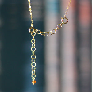Dark Line Jane Austen Novel Necklace