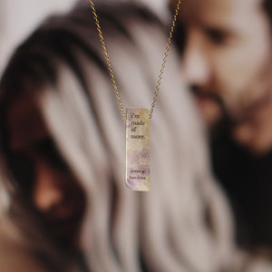 Jessica Hawkins I'm Made of More Quote Amethyst Necklace
