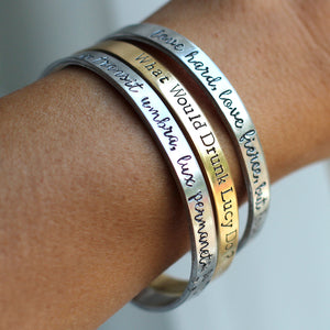 Jay McLean Custom Quote or Title Cuff Bracelet