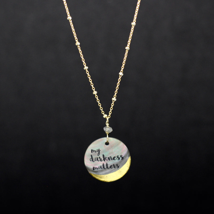 Jay McLean My Darkness Matters Necklace