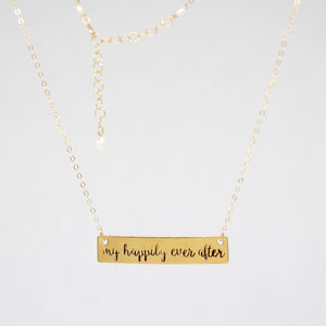 Jay McLean Hand Stamped My Happily Ever After Quote Necklace