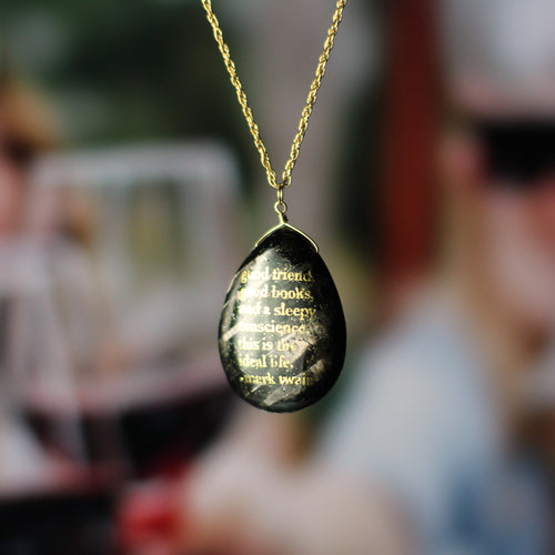 Mark Twain Books Friends Quote Necklace