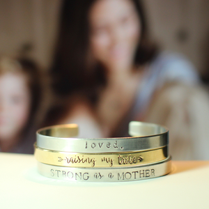 Personalized Cuff Bracelet for Mom