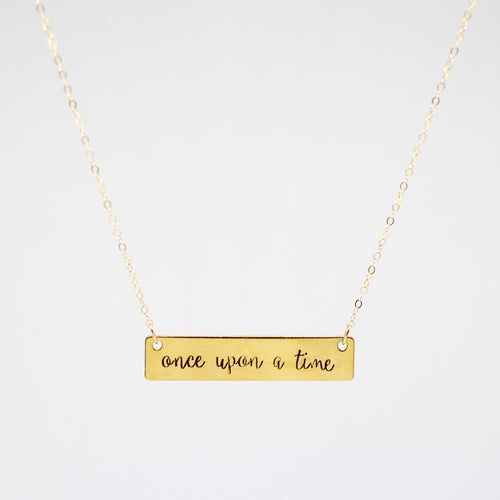 Once Upon A Time Hand Stamped Necklace
