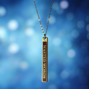 single bar pendant novel title necklace Staci Hart - Fiction Jewelry