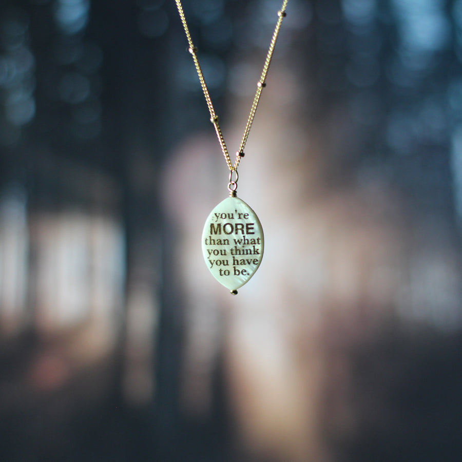 Kandi Steiner You're More Quote Necklace