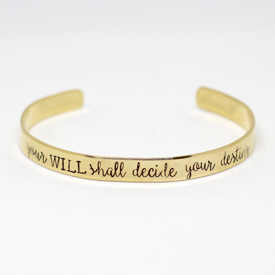 Brontë Will Shall Decide Your Destiny Cuff Bracelet