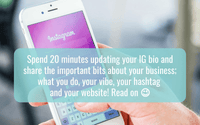 Blog instagram bio update hashtag social media hello media