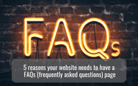 hello media blog post 5 reasons your website must have a great FAQ's page