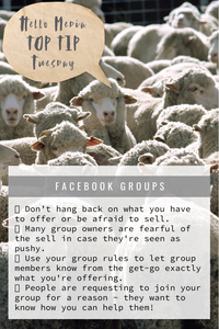 Top Tip Tuesday ~ Facebook Groups!