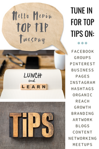Welcome to top tip Tuesday!
