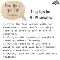 Top Tip Tuesday ~ ZOOM etiquette!