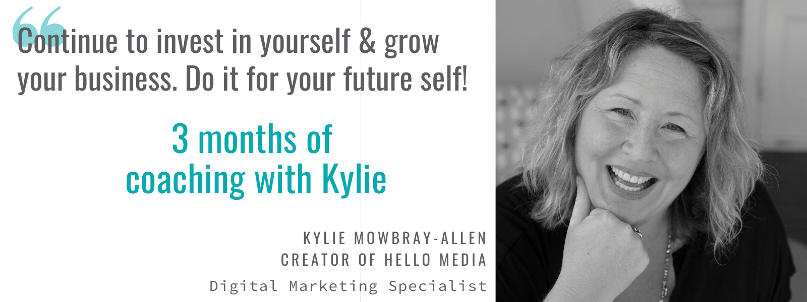 3 months of business coaching with Kylie Mowbray-Allen Digital Marketing Specialist