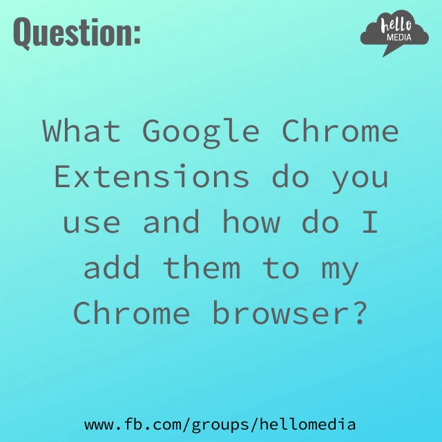 Hello Media Question of the Day Google Chrome Extension Browser Blog Loom