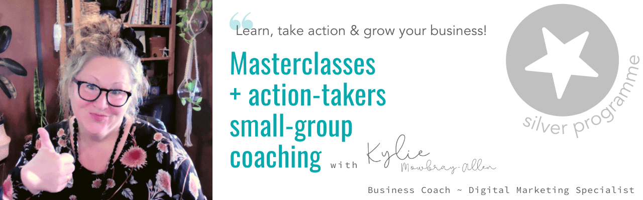 gold business coaching with kylie mowbray-allen small to medium sized businesses. get visible and viable
